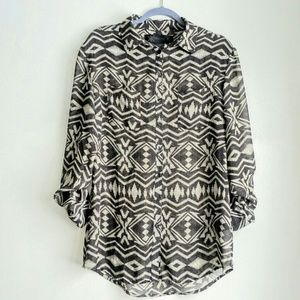 Kardashian Kollection aztrc/snake print blouse